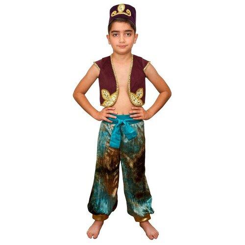 Костюм Маскарад у Алисы Аладдин-2 (202005), коричневый, размер 32(128) костюм маскарад у алисы восточный принц коричневый размер 32 128