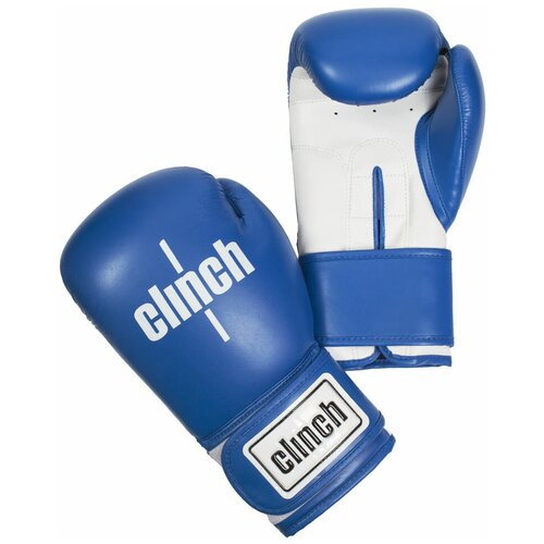 Боксерские перчатки Clinch Fight синий/белый 10 oz