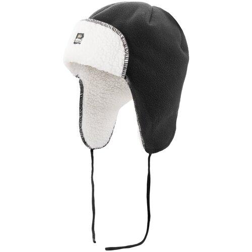Шапка-ушанка Satila размер 56, черный/белый