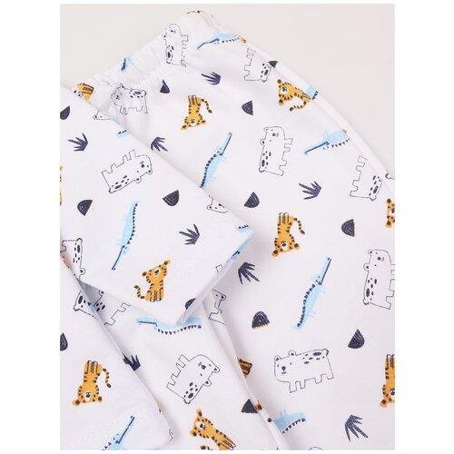 Пижама: Джемпер, брюки КотМарКот, 2691231 (размер 86, цвет Белый) пижама double trouble белый оранжевый 86 размер