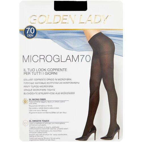 Колготки Golden Lady Microglam, 70 den, размер 4-L, nero (черный) колготки golden lady microglam 70 den размер 3 m nero черный
