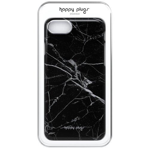 Фото - Чехол-накладка Happy Plugs 9142 + защитная пленка для Apple iPhone 7/iPhone 8 Black Marble клип кейс happy plugs для apple iphone xs black marble черный мрамор