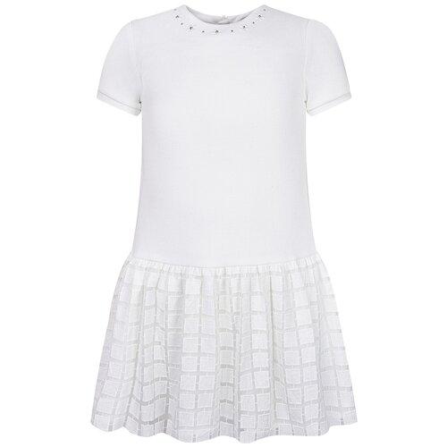 Фото - Платье Mayoral размер 6(116), кремовый рубашка fendi размер 116 кремовый