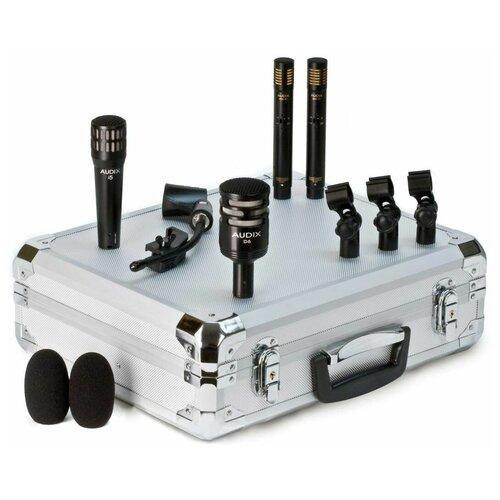 Audix DP QUAD Комплект из 4 микрофонов для ударных: i5, D6, 2 x ADX51, кейс