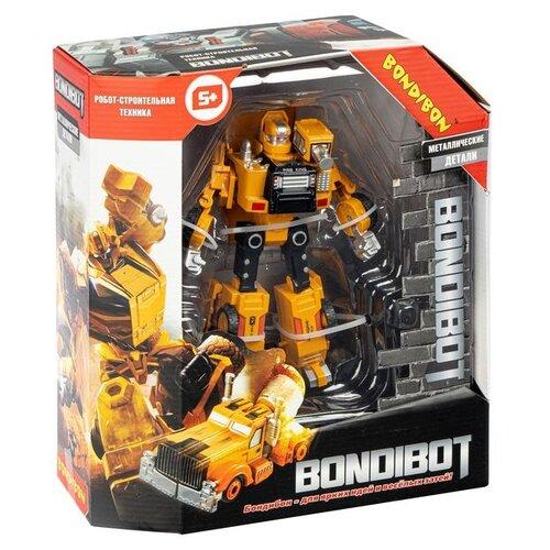 Трансформер BONDIBON 2в1 BONDIBOT робот-строит. техника (самосвал), метал. Детали (ВВ4925) конструкторы bondibon 2 в 1 техника самосвал самолет 361 деталь