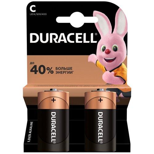 Фото - Батарейка Duracell Basic C/LR14, 2 шт. батарейка c ergolux lr14 alkaline bl 2 lr14 bl2