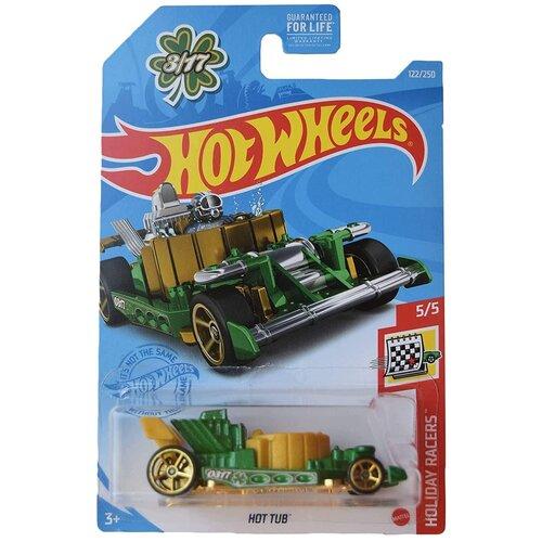 Hot Wheels Базовая машинка Hot Tub, зеленая mattel базовая машинка hot wheels tesla model 3