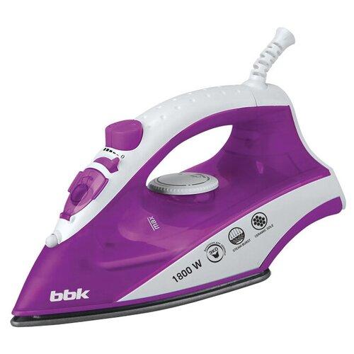 Фото - Утюг BBK ISE-1802 фиолетовый/белый утюг bbk ise 2401 зеленый белый
