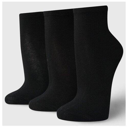 Носки ТВОЕ A6187, 3 пары, размер one size (35-41), черный