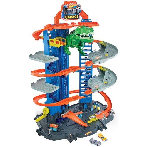 Hot Wheels Сити Новый невообразимый гараж GJL14, серый/голубой/зеленый/оранжевый