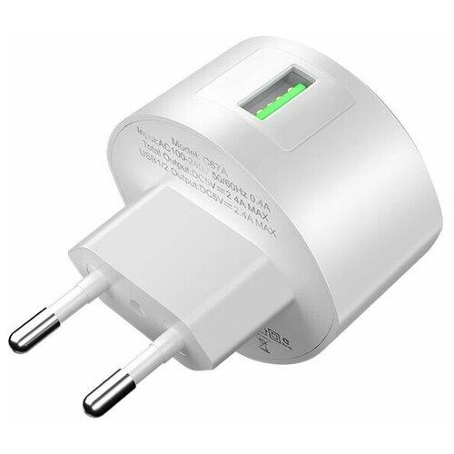 Фото - Сетевое зарядное устройство быстрое QC 3.0 Hoco C68A - Белое сетевое зарядное устройство borasco qc 3 0 белое