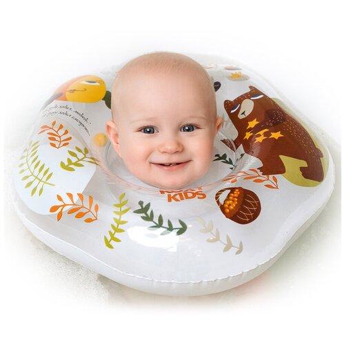 Круг для малышей надувной на шею для купания Fairytale Bear от ROXY-KIDS недорого