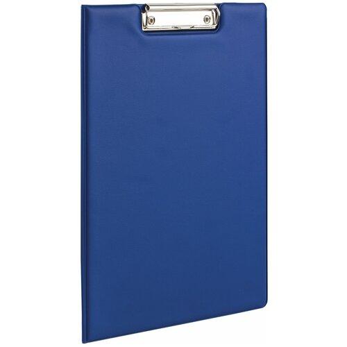 Купить BRAUBERG Папка-планшет с верхним прижимом и крышкой, А4 синий, Файлы и папки