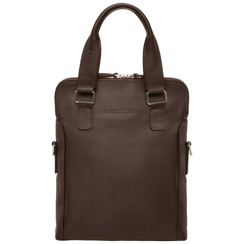 Фото - Деловая сумка вертикальная Hollywell Brown мужская кожаная коричневая сумка milano brown 9282 коричневая
