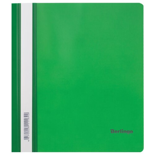 Папка-скоросшиватель пластиковая Berlingo, А5, 180мкм, зеленая с прозрачным верхом, упаковка 20 шт.