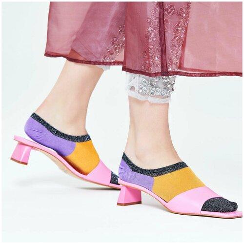 Носки для девушек Hysteria Isa Invisible Sneaker Sock - Grey/Yellow/Purple 36-38