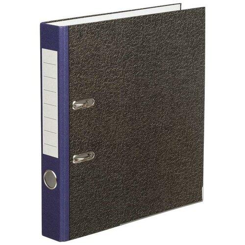 Фото - Attache Папка-регистратор Economy, под мрамор, 50 мм черный/синий attache папка регистратор economy под мрамор 50 мм черный синий