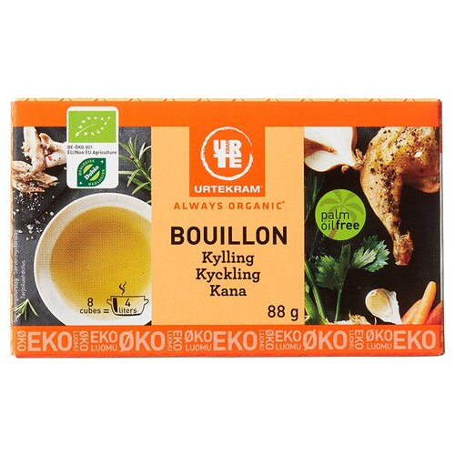 Urtekram Бульон куриный, органический, 8 порц.