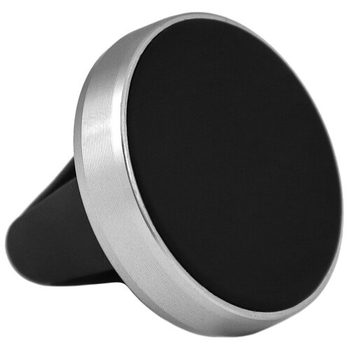Автомобильный магнитный держатель для телефона с креплением в решетку обдува/ воздуховод / Серебристый