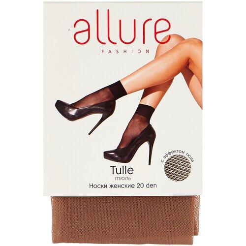 Капроновые носки ALLURE Tulle 20 den, размер универсальный, glase