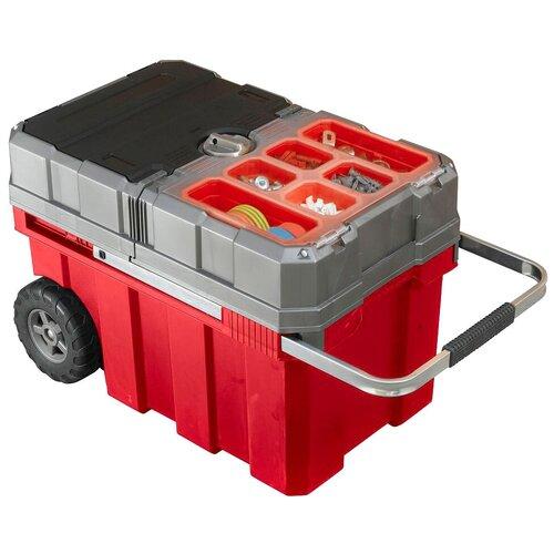 Фото - Ящик-тележка KETER Masterloader (17191709) 61.6x37.8x41.5 см красный/серый ящик keter 2 drawers tool chest 17199303 56 2x28 9x26 2 см 22 красный