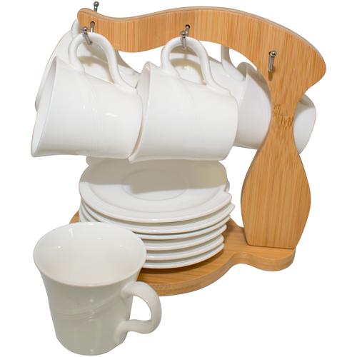 Фото - JEWEL Набор чайный Фиона JEWEL 12 предметов на подставке (фарфор) jewel набор кружек тренза jewel 335 мл 6 шт на металлической подставке