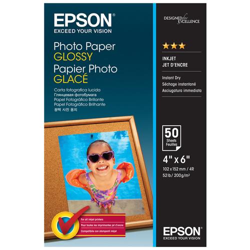 Фото - Бумага Epson Photo Paper Glossy 10х15 epson бумага epson water resistant matte canvas 44 x 12 2м c13s042016