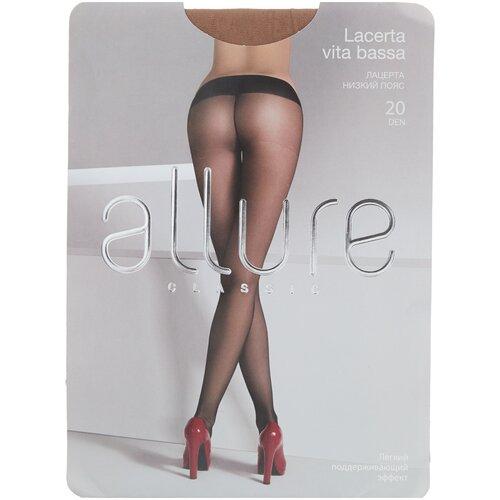 Колготки ALLURE Classic Lacerta Vita Bassa, 20 den, размер 3, glase (золотистый) колготки allure classic lacerta 20 den размер 3 caramello бежевый