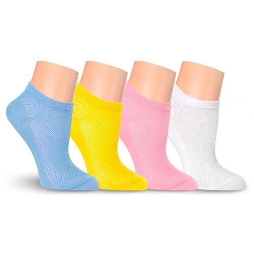 Летние женские носки LorenzLine Д8 в сетку, Зеленый, 25 (размер обуви 37-38)