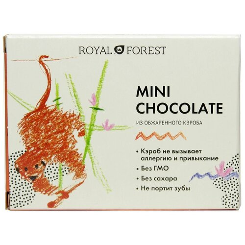 Фото - Шоколад ROYAL FOREST Mini Chocolate из обжаренного кэроба, 30 г шоколад royal forest молочный из обжаренного кэроба 75 г
