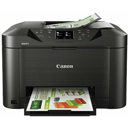 МФУ струйное CANON MAXIFY MB2140 (принтер, сканер, копир, факс), А4, 600×1200, 19 стр./ мин., 20000 стр./ мес., дуплекс, Wi-Fi, с/ к