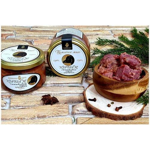 Деликатес Дичь Томлёное мясо кабана с можжевеловыми ягодами и розмарином, 220 г