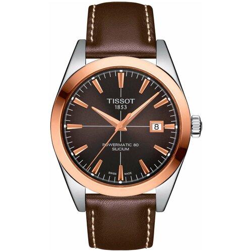 Наручные часы Tissot Gentleman Powermatic 80 Silicium 18K Gold T927.407.46.291.00