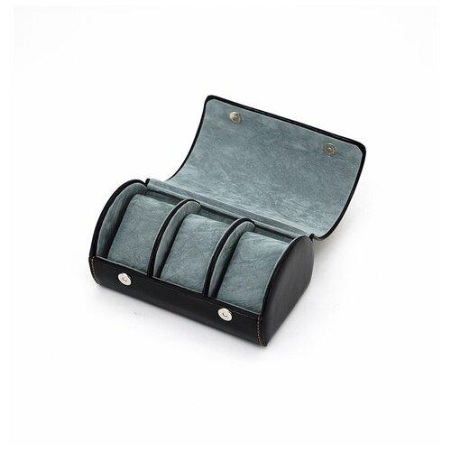Шкатулка для мужских аксессуаров Jardin D'Ete, цвет черный, 18,8 х 11,3 х 8,6 см