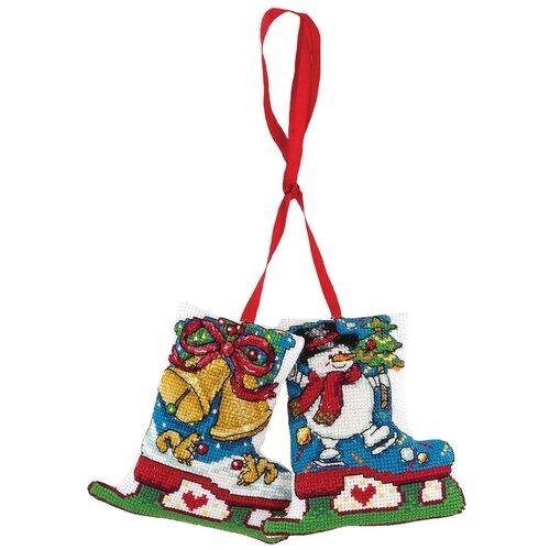 Купить Набор для вышивания PANNA IG-1518 ( ИГ-1518 ) Новогоднее украшениеКоньки 1 шт., Наборы для вышивания