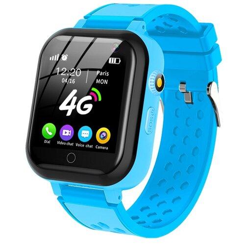 Tiroki Q1000 T16 (часы-телефон с поддержкой SIM, геолокация GPS+LBS+WiFi, история перемещений, видеозвонок, кнопка SOS, обратный звонок, чат, удаленное фото, bluetooth, камера, прямой набор номера с блокировкой, будильник, фонарик, влагозащита) голубой