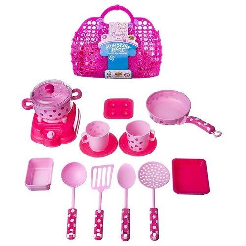 Набор игрушечной кухонной посуды, в корзинке, 25x21x10.5 Abtoys PT-01022