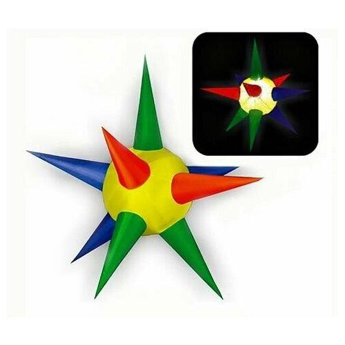 Надувная фигура звезда - 10 лучей, разноцветная., 2 м, Торг-Хаус