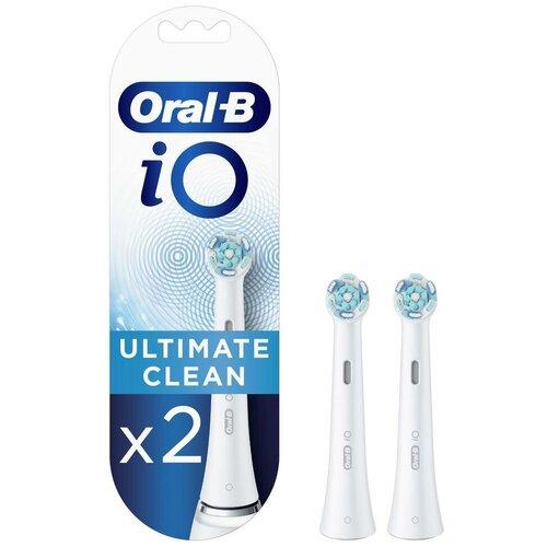 Насадка для зубных щеток Oral-B iO Ultimate Clean White, 2 шт насадка для зубных щеток seago sg 002 2 шт [sg 002 white]