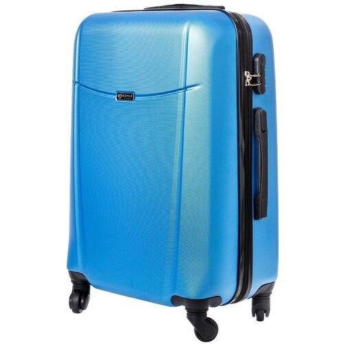 чемодан bonle премиум abs пластик салатовый размер s 55 см 37 л Чемодан Bonle, премиум ABS-пластик, Голубой, размер M, 65 см, 62 л