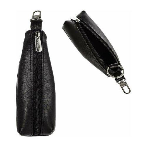 Фото - Футляр для ключей FABULA Estet, натуральная кожа, на молнии, 55x130x25 мм, черный, KL.6.MN ключница fabula kl 56 bk красный