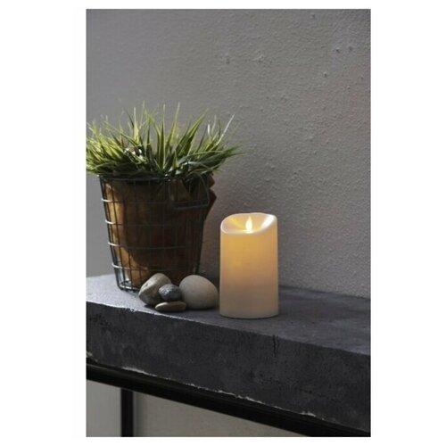 свеча светодиодная пластиковая с эффектом мерцающего пламени высота 8 5 см цвет бежевый 063 88 Свеча светодиодная пластиковая TWINKLE с эффектом живого пламени, высота - 17,5 см, цвет - бежевый, 063-77