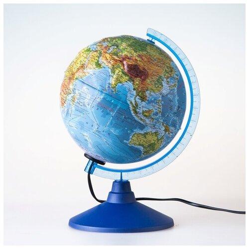 Глобен Глoбус физико-политический рельефный «Классик Евро» диаметр 250 мм, с подсветкой