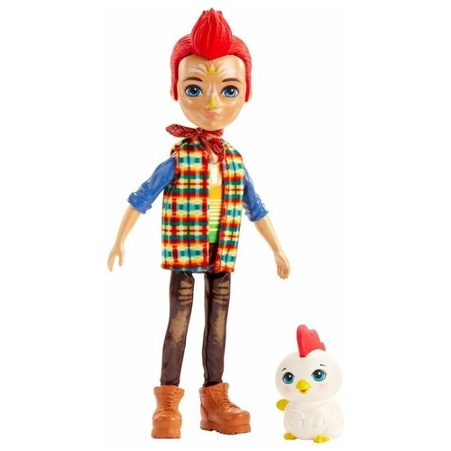 enchantimals кукла felicity fox Кукла Enchantimals с питомцем Redward Rooster & Cluck