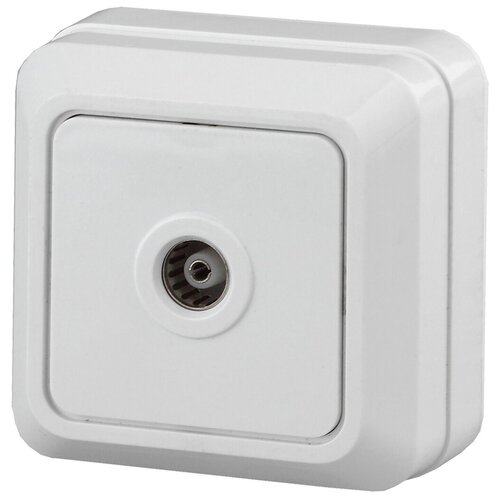 Intro 2Э-301-01 Intro Розетка TV одиночная, ОУ, Quadro, б.м.п., белый (10/200/2400)