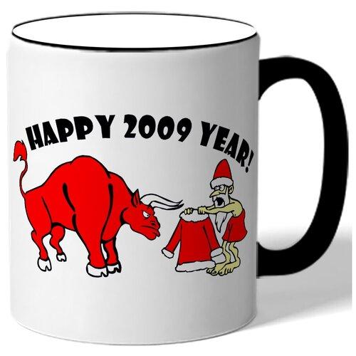 Кружка Happy 2009 yaer , Новый 2009 год