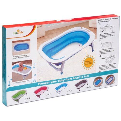 Купить Ванна детская Funkids Folding Smart Bath , цвет: голубой, Ванночки
