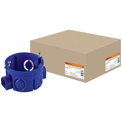 Установочная коробка СП D68х42мм, саморезы, стыковочные узлы, синяя, IP20, TDM SQ1402-1118