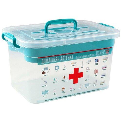Контейнер для аптечки домашний доктор 10л 355x235x190мм