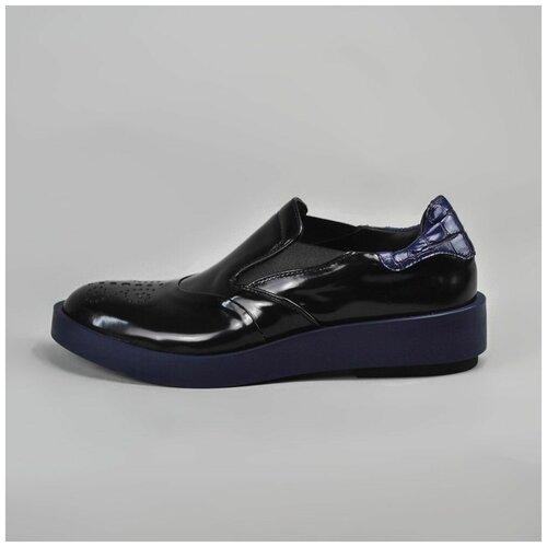 Fabi Туфли черные на синей подошве (38)